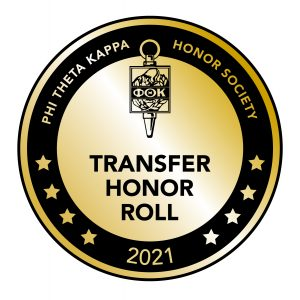 Phi Theta Kappa Transfer Honor Roll 2021 seal