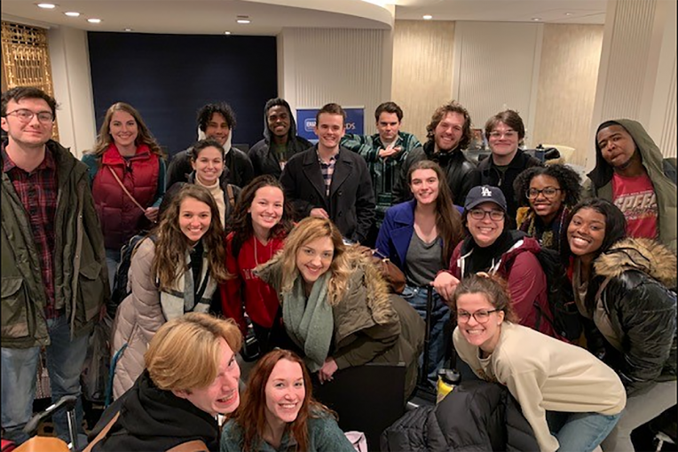 Acting Students from KCACTF in 2020.