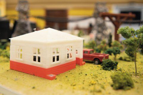 Model house in a model landscape