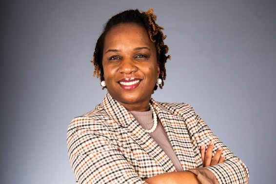 Dr. Shamaine Bertrand standing