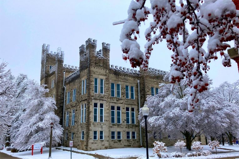 Cook Hall in winter