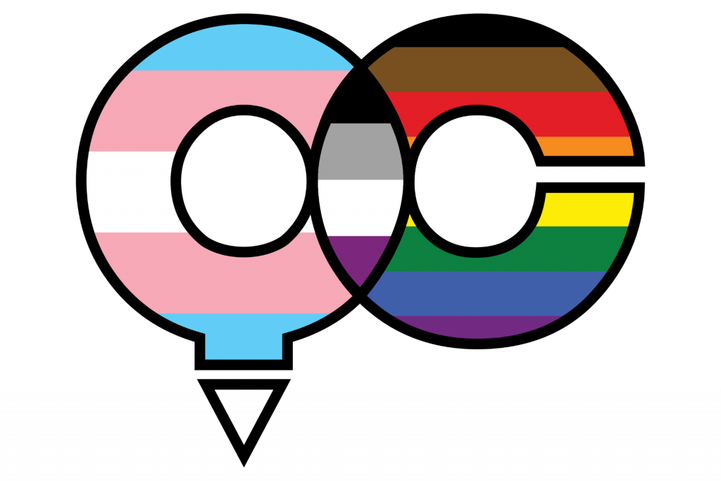 Q and a C for the ISU Queer Coalition logo