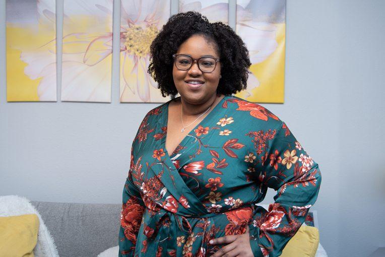 Headshot of senior political science major Lauren Harris, the student body president.