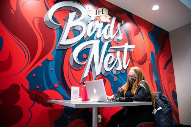 Illinois State students can hang out, study, and grab a bite to eat at the Birds' Nest.