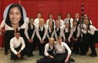 Areli Ramirez current profile picture and picture of her and catering staff during time on campus