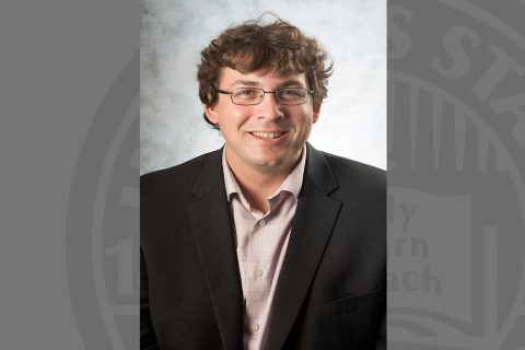 Dr. Luke Russell, assistant professor in the Department of Family and Consumer Sciences