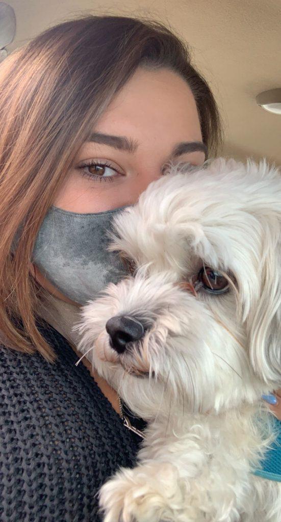Michelle Wexler and her dog, Benji