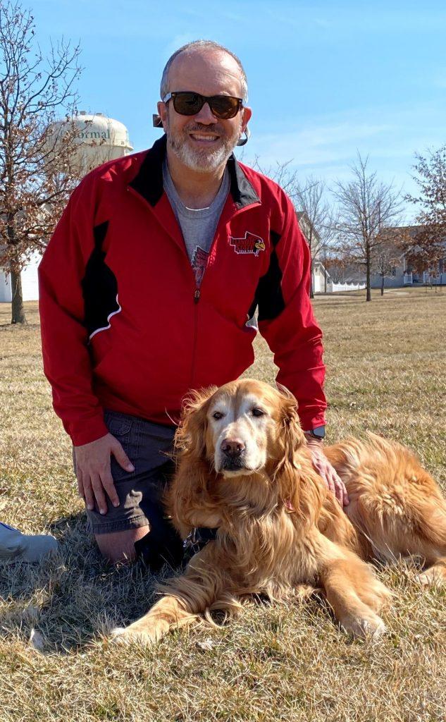 Professor Michael Gizzi and his dog, Gracie