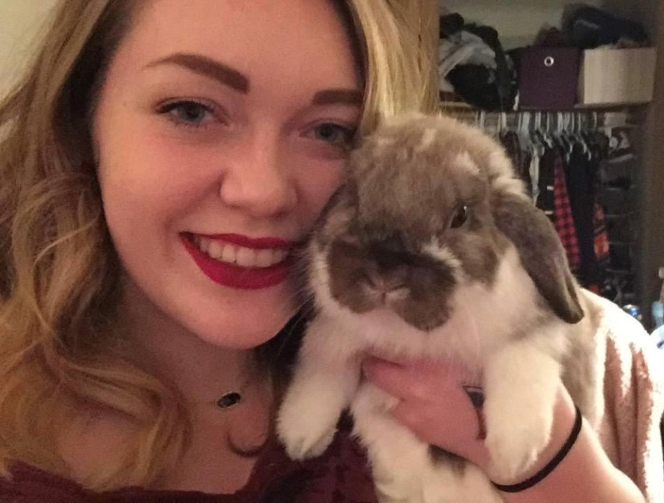 Molly Martin and her rabbit Ollie
