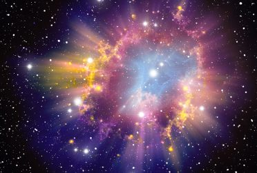 Rendering of a supernova explosion.