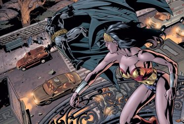 comic of Wonder Woman punching Batman