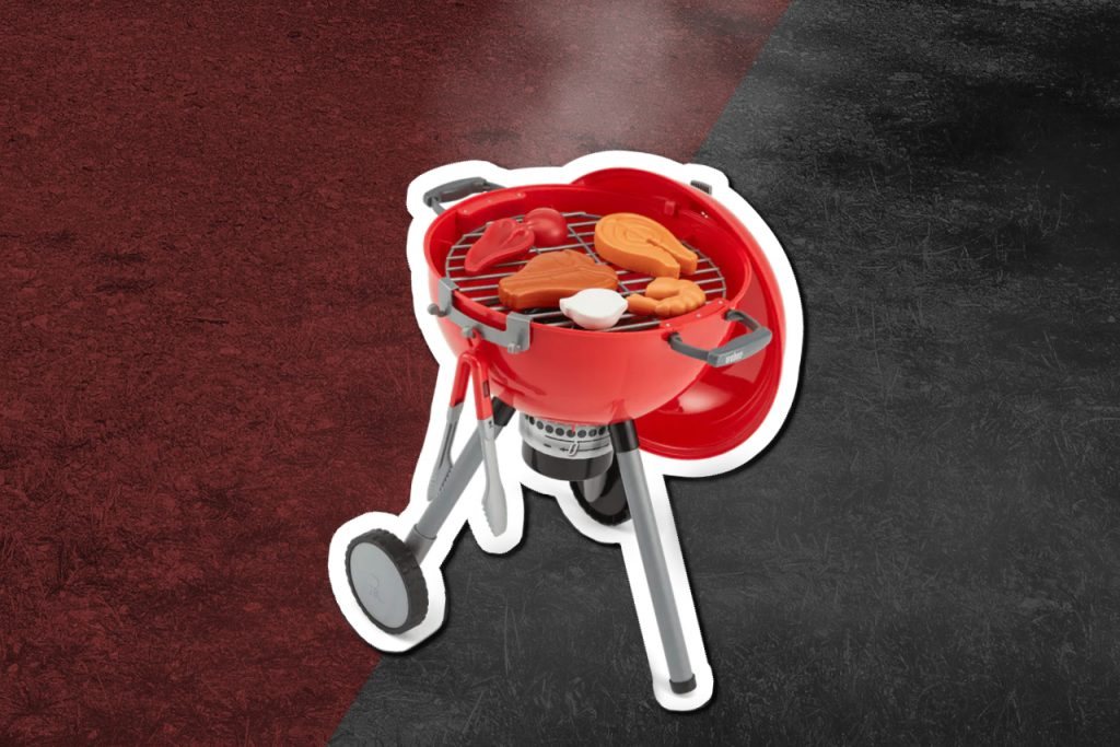 Plastic toy grill