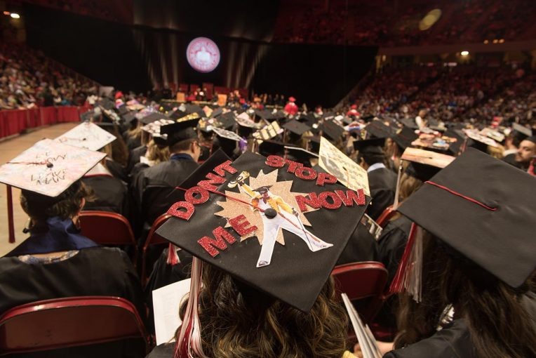 Image of graduation caps
