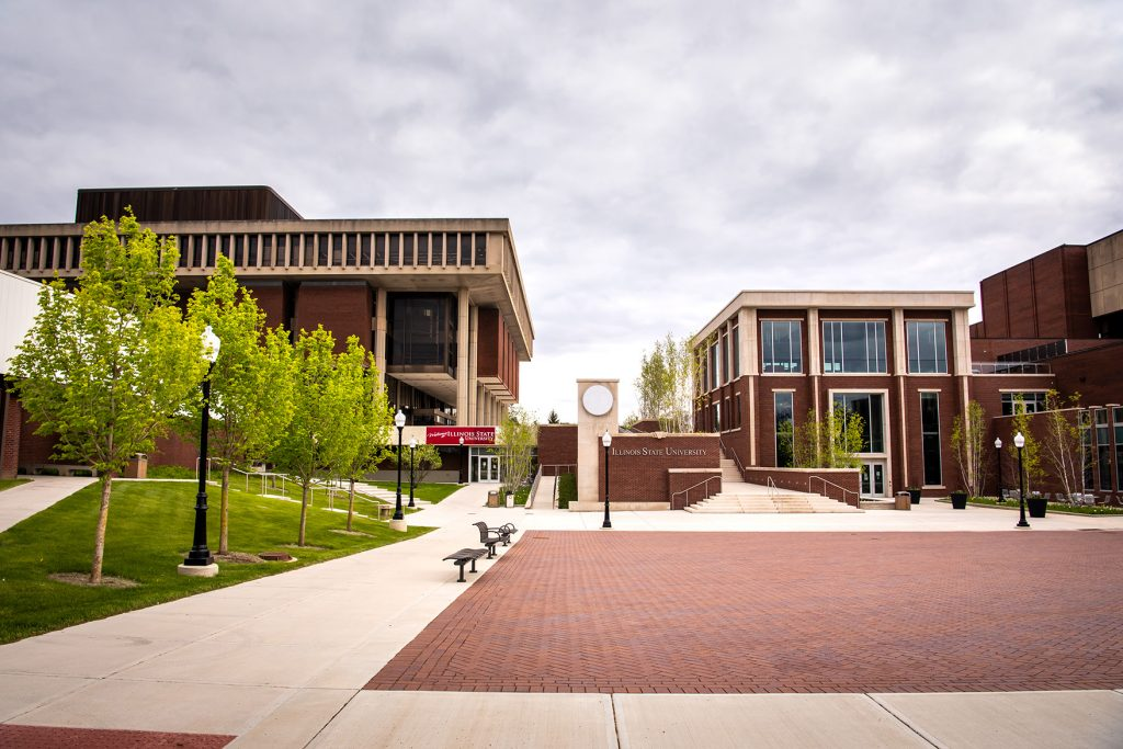 view of Milner Library and Bone Student Center