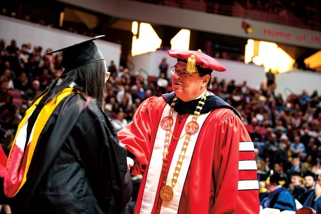 President Dietz at Commencement