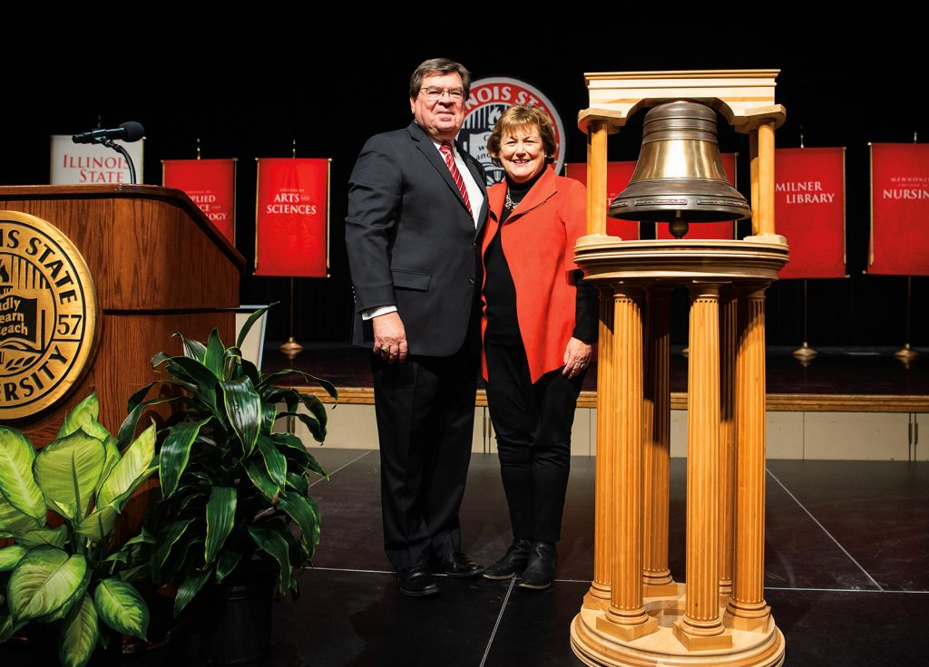 President Dietz at the Founders Day bell ringing event