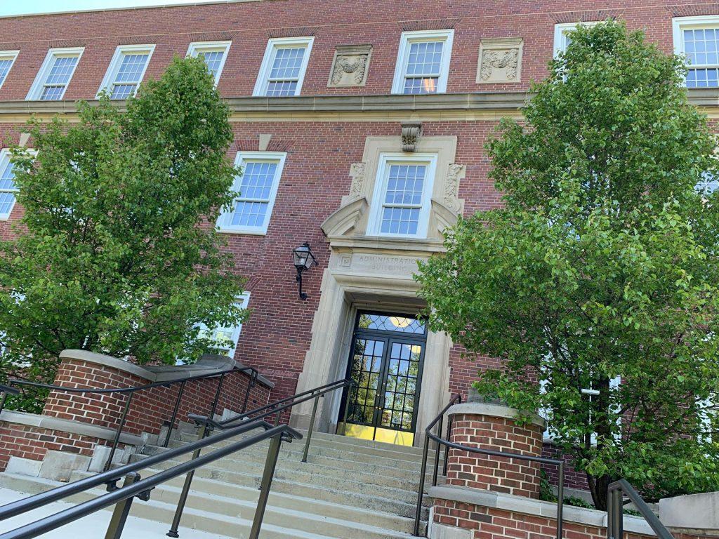 Hovey Hall quad steps