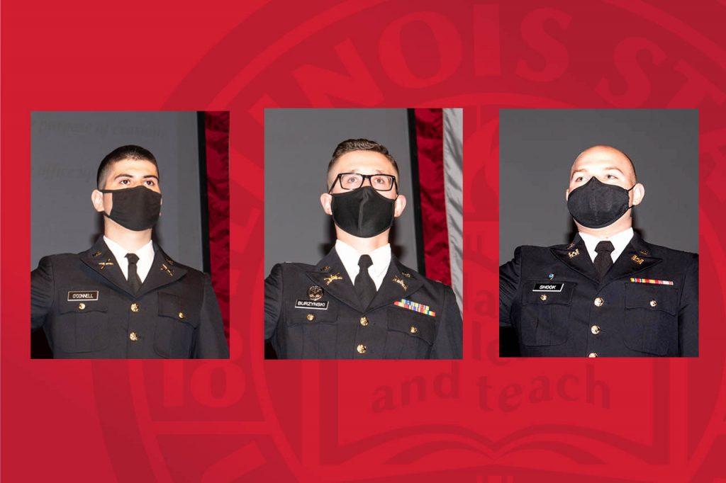 Second Lieutenants Justin O'Connell, Jakub Burzynski, and Evan Shook