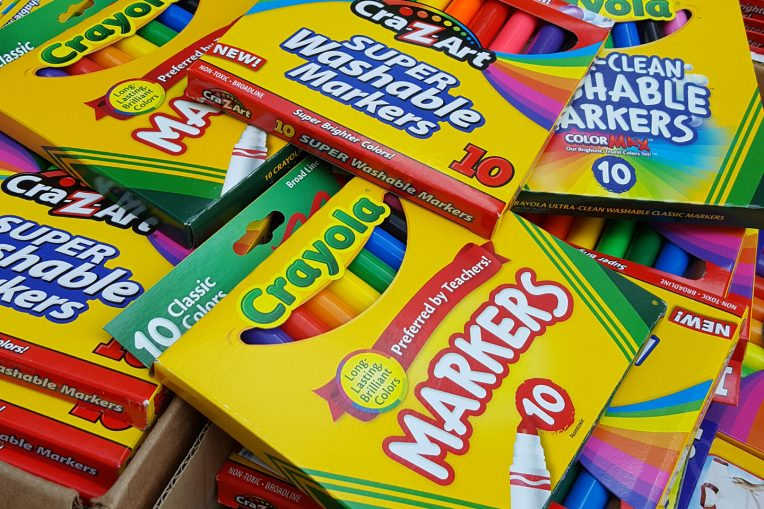 packages of markers