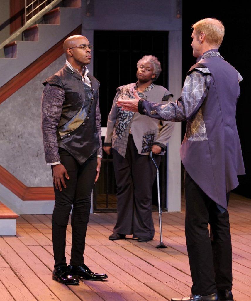 """Chauncy Thomas, Lisa Gaye Dixon, and Grant Goodman in """"Measure for Measure"""""""