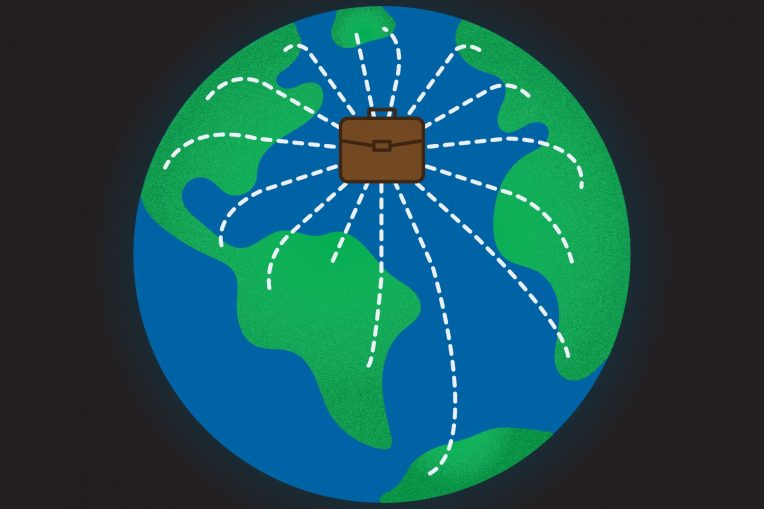 Graphic of a globe