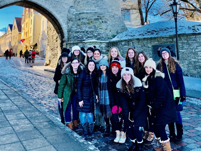 Students visiting Finland