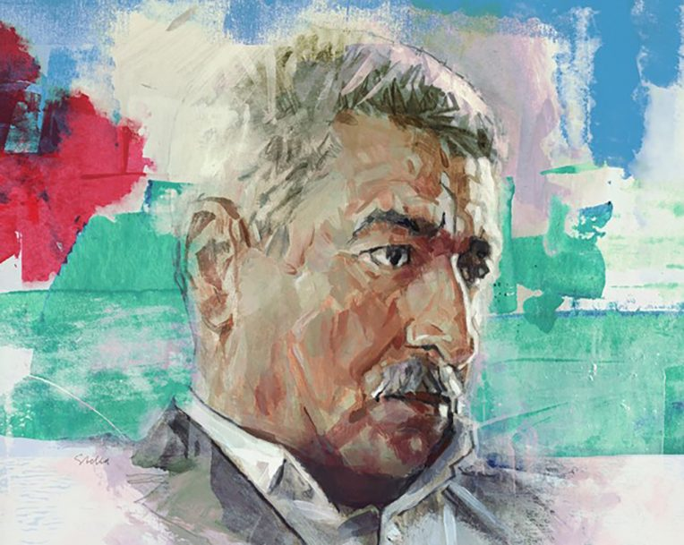 painting of man's face
