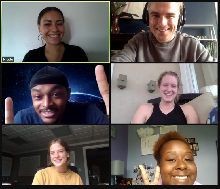 Photo of STEP-UP virtual meeting participants.