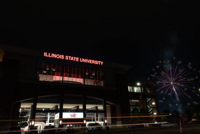 Fireworks at Hancock Stadium