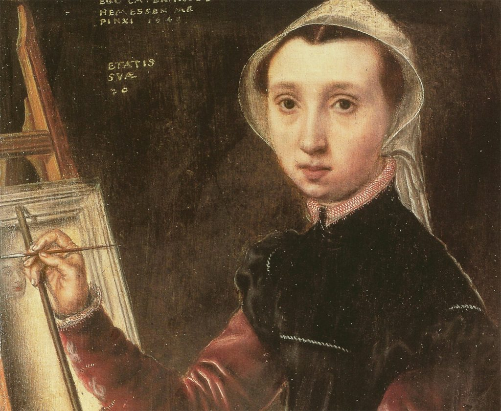 painting of woman at an easel