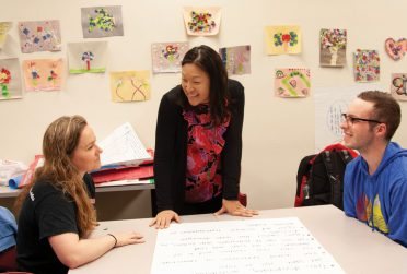 Grace Kang with teacher candidates
