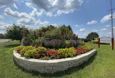 Illinois State student Katherine Robinson designed the rainbow garden at the Horticulture Center.