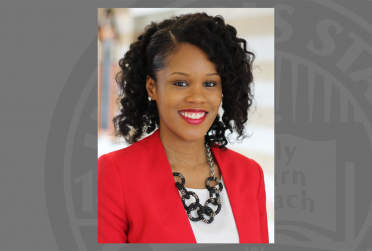 headshot of Ashley Hicks, advisor of Beta Gamma Sigma and assistant to the Dean for Student Services - College of Business