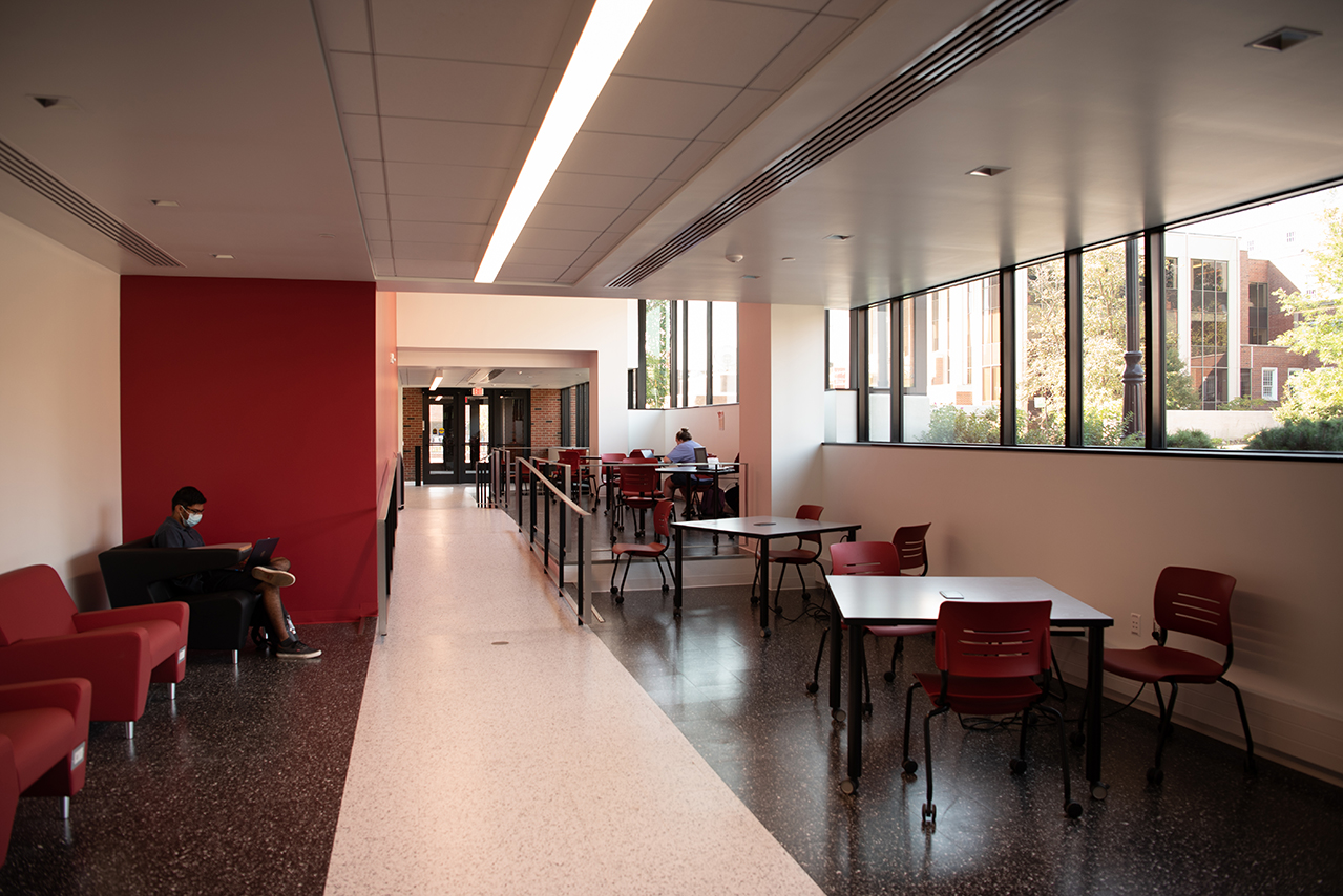 A construction project at Julian Hall added new spaces for the cybersecurity program.