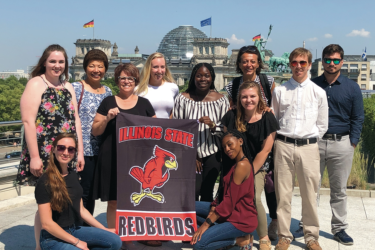 Illinois State students learned how injustice could spread throughout a continent during a two-week trip in 2019 to Europe