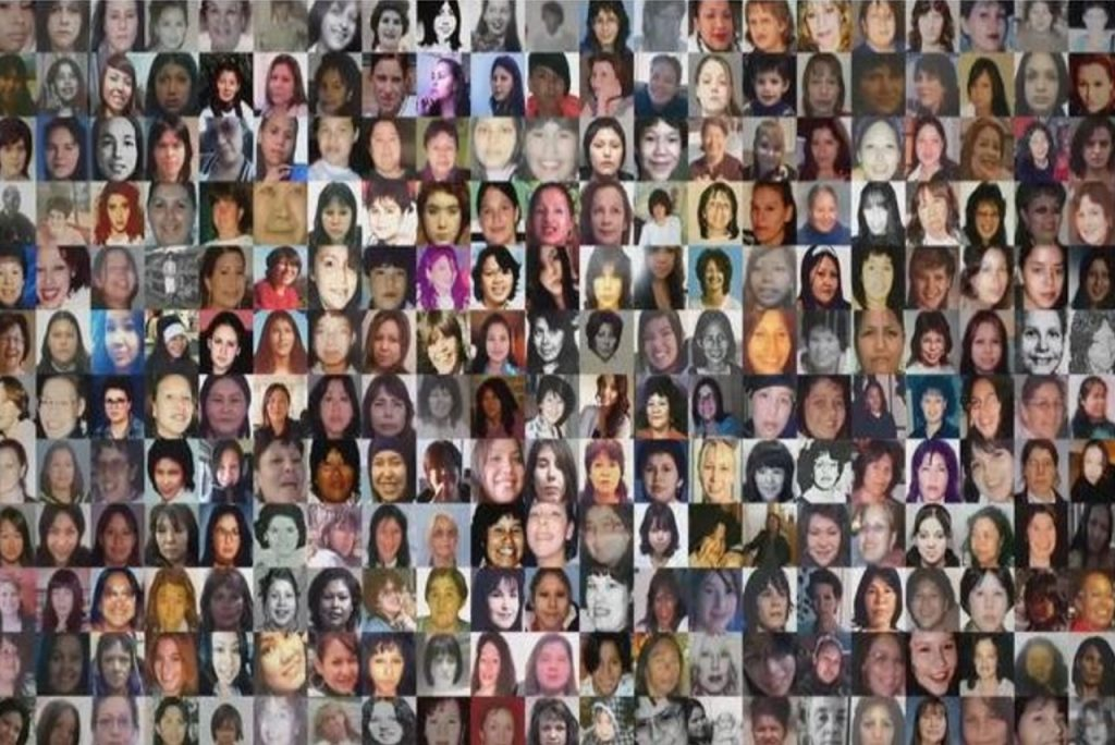 A collage of photos of faces