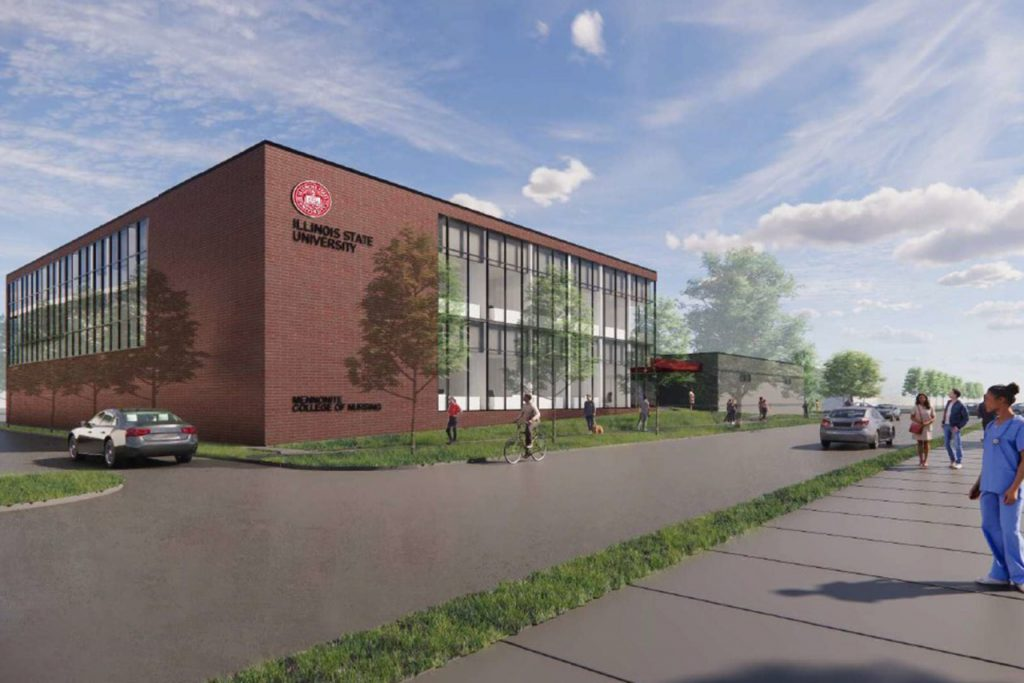 A new two-story addition to the Nursing Simulation Lab is planned built next to the current lab, expanding the shared space by 20,000 square feet.