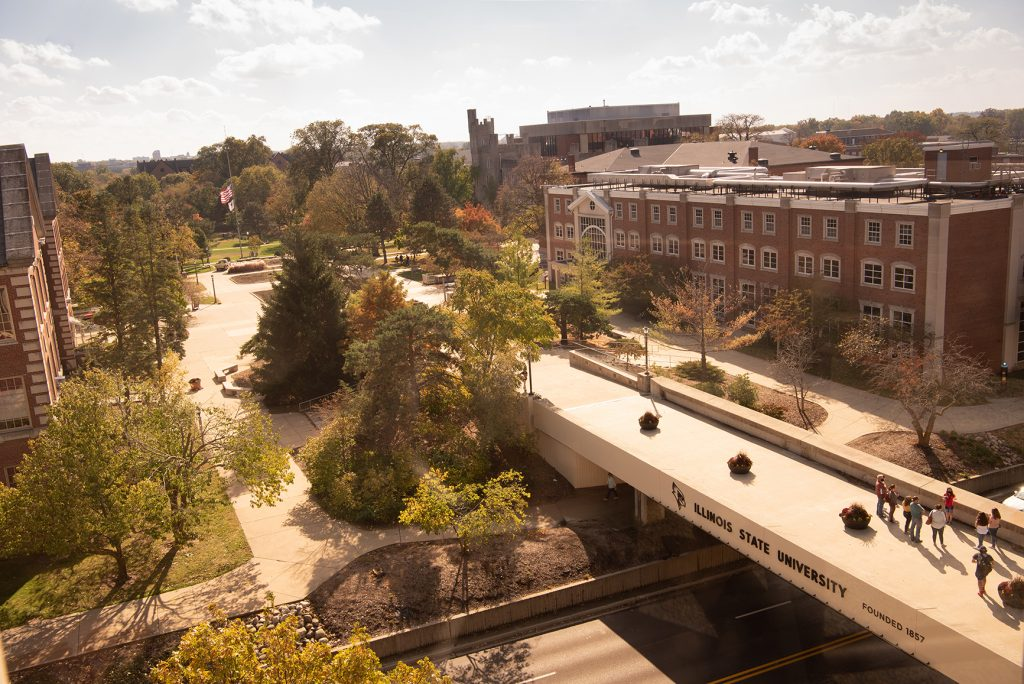 The bridge that connects Milner Plaza with Schroeder Plaza