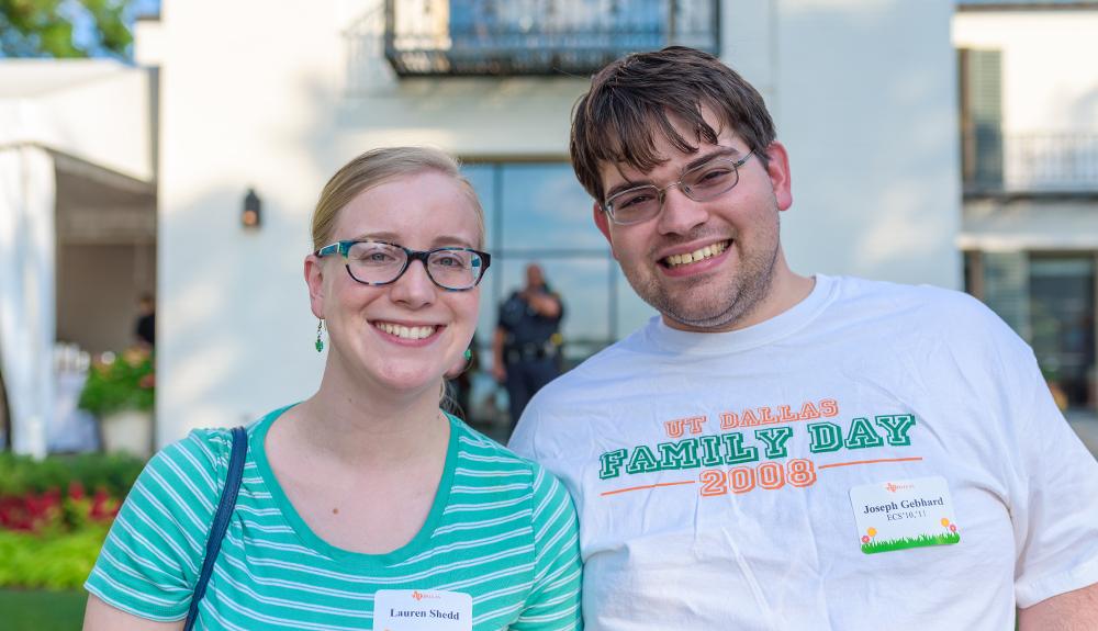 Joseph Gebhard BS'10, MSCS'11 (right) enjoying the event with girlfriend Lauren Shedd.