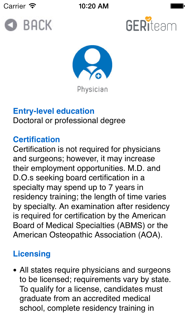 Physician Role