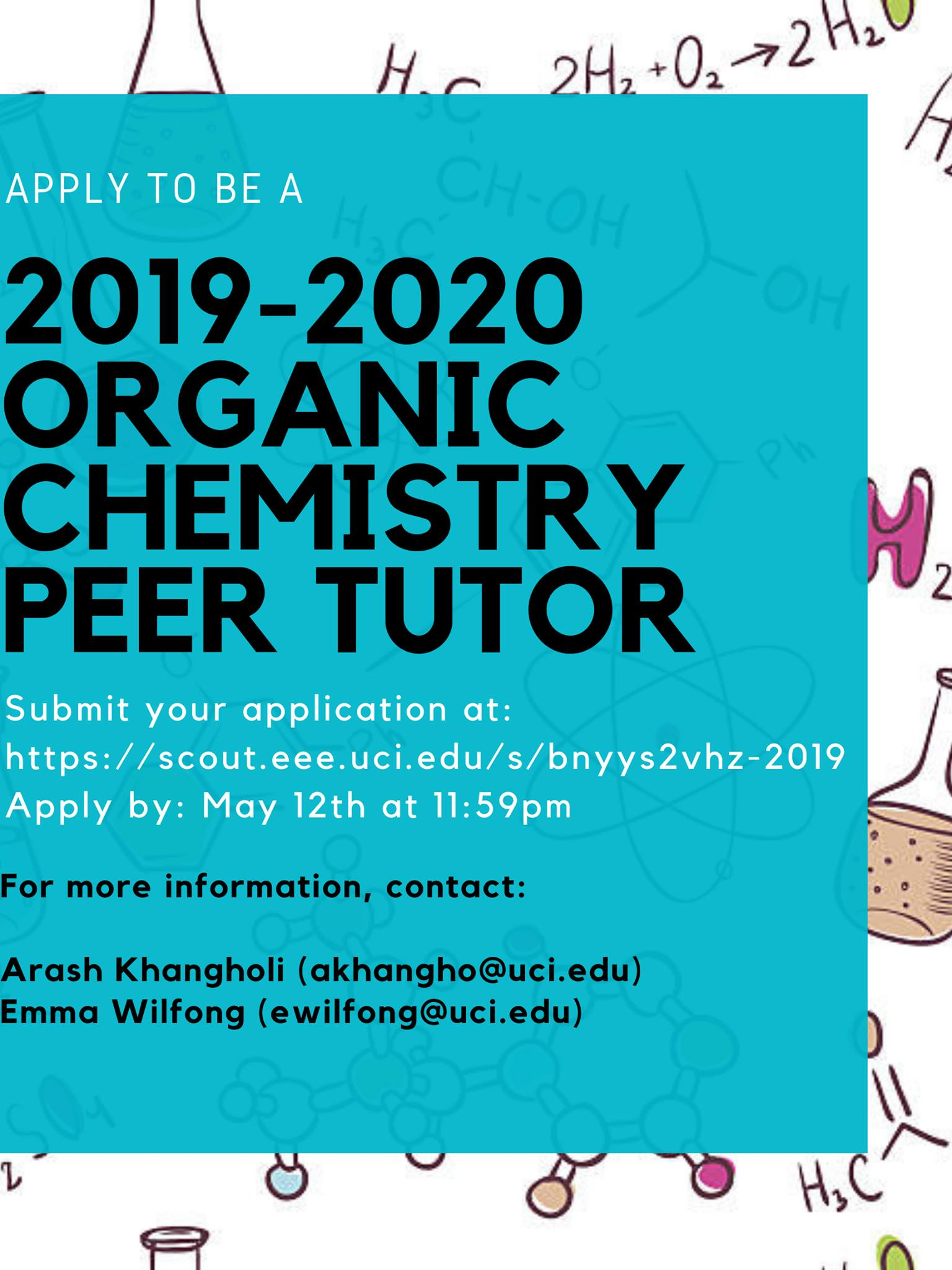 UCI ORGANIC CHEMISTRY PEER TUTORING – Free tutoring for Organic