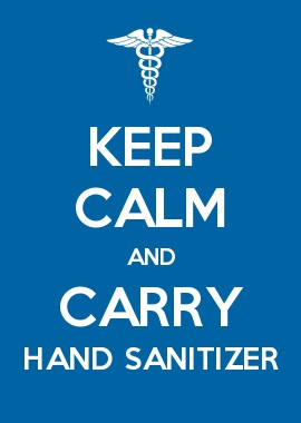 Keep Calm and Carry Hand Sanitizer