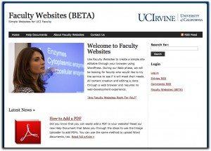 Screenshot of Faculty Websites