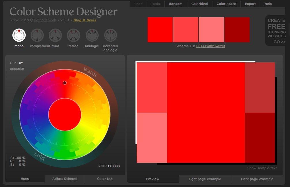 Color Scheme Designer screenshot
