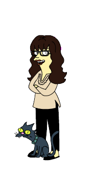 Sylvia as a Simpson's Character