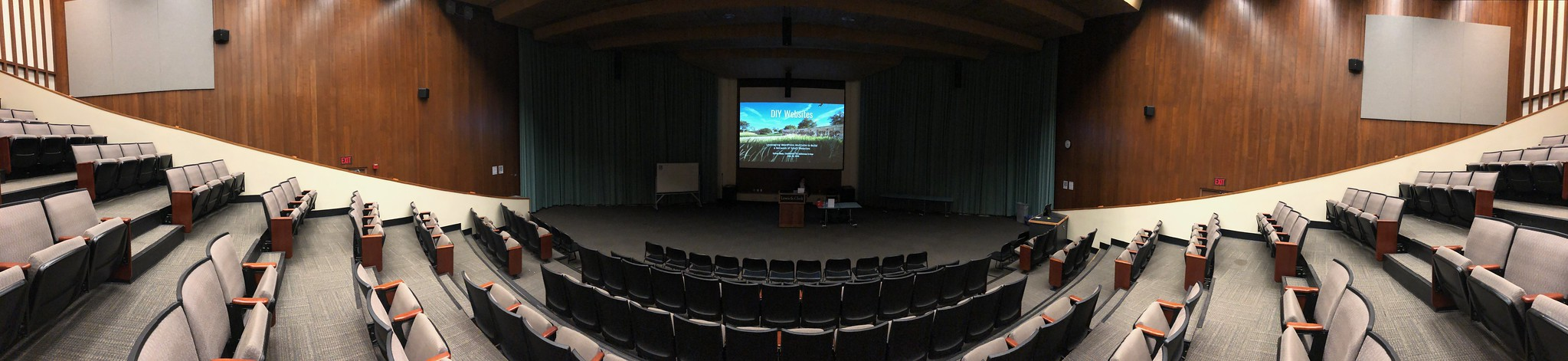 view from the back of the auditorium