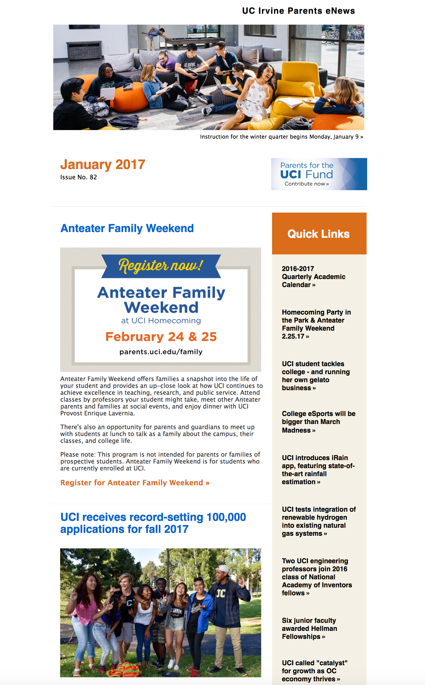 January 2017 Parents eNews
