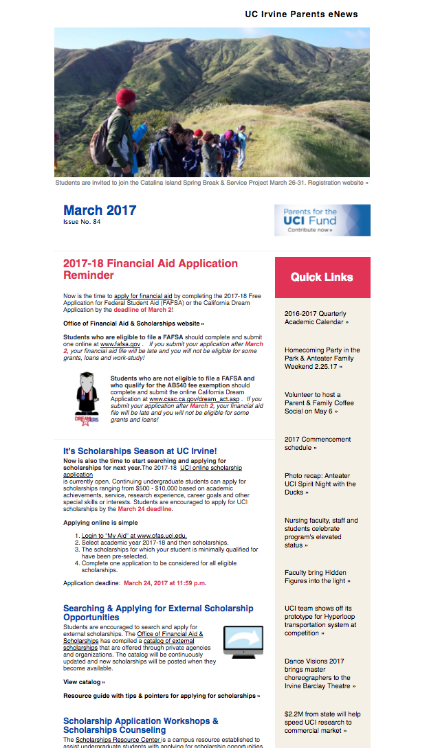 March 2017 Parents eNews
