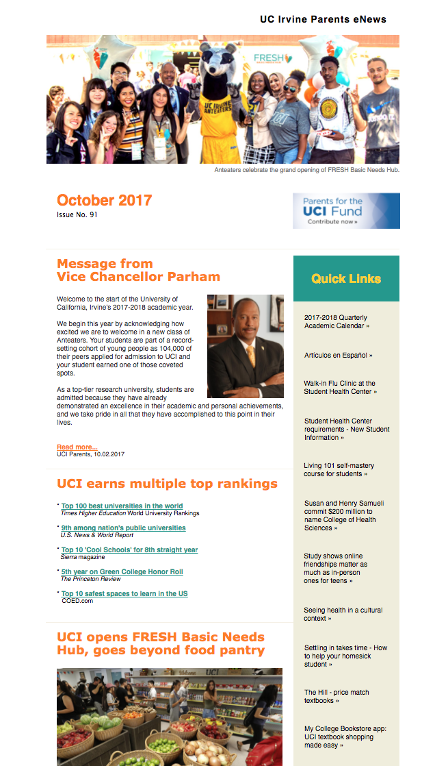 October 2017 Parents eNews