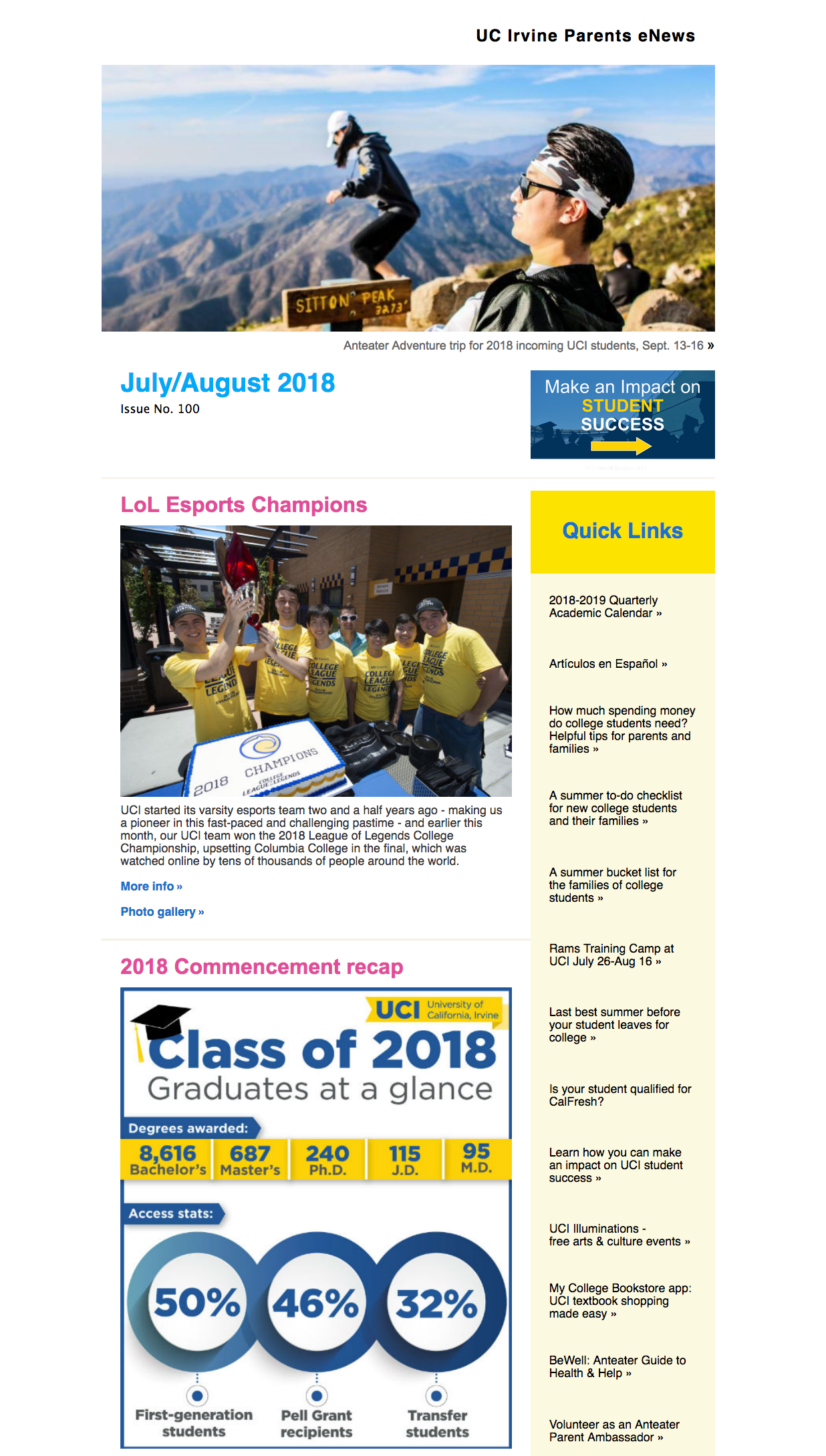 July/August 2018 eNews